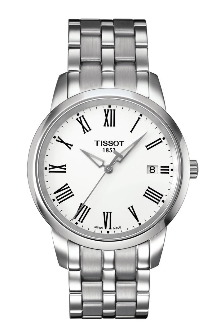 Orologio Tissot Uomo movimento al quarzo Classic Dream, cassa e bracciale in acciaio T033.410.11.013.01