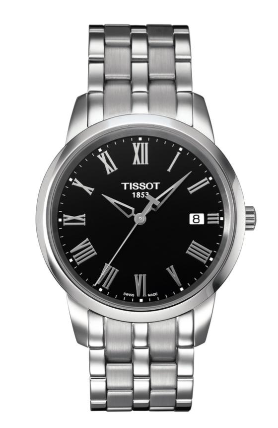 Orologio Tissot Uomo movimento al quarzo Classic Dream, cassa e bracciale in acciaio. T033.410.11.053.01
