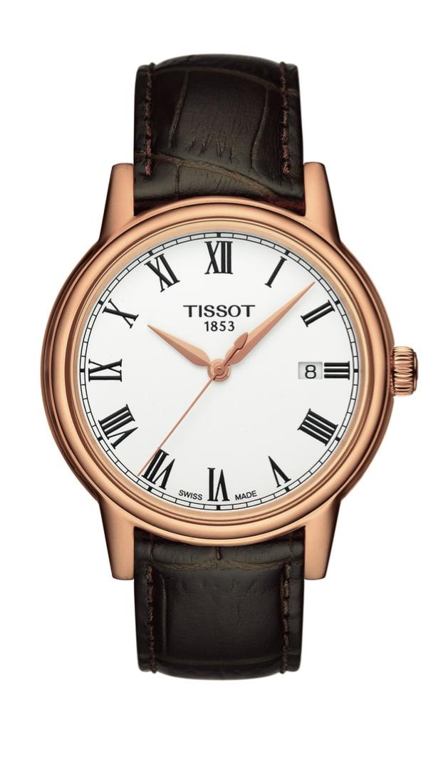 Orologio Tissot Uomo al quarzo Carson, cassa PVD rosèe cinturino in pelle T085.410.36.013.00