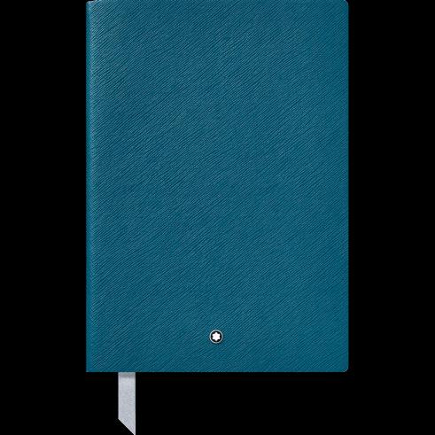 Blocco note #146 blu petrolio Cancelleria di lusso Montblanc; a righe