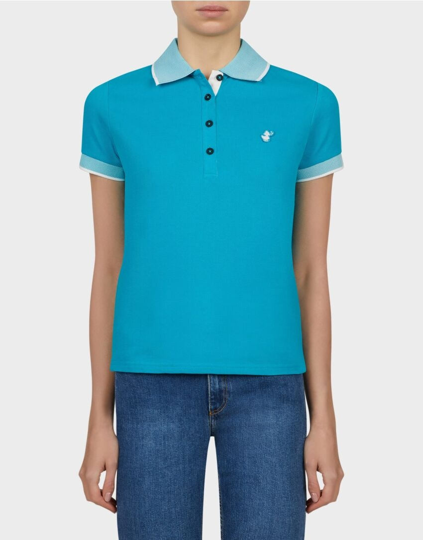 polo donna SAVE THE DUCK PICO8 waterfall green