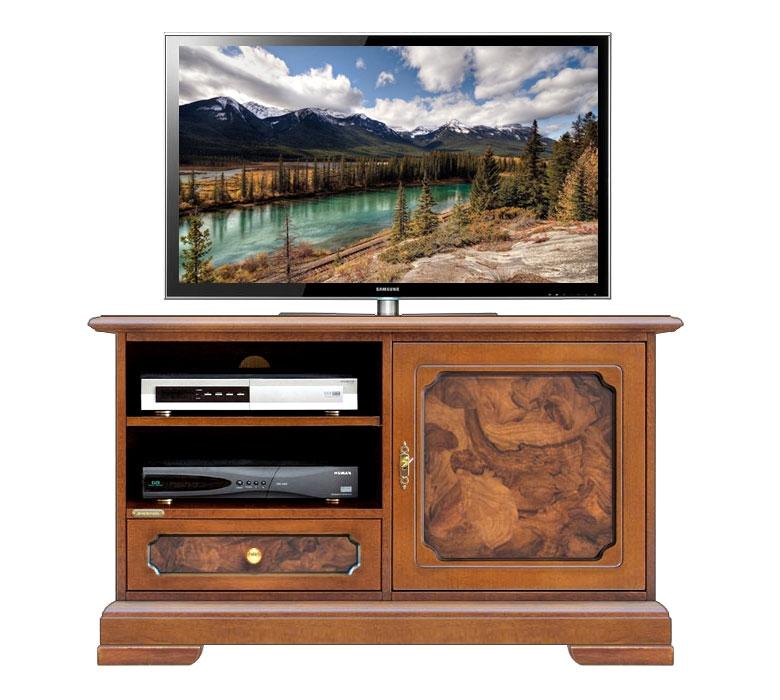 mobile porta tv, porta tv, inserti in radica, mobile con radica