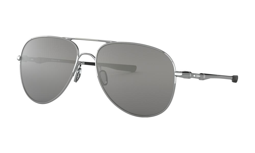 Oakley - Occhiale da Sole Unisex, Elmont, Polished Chrome/Chrome Iridium Lens OO4119 411908 C60