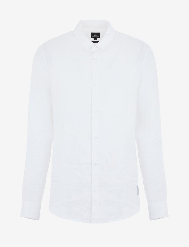 Camicia uomo ARMANI EXCHANGE in lino bianca