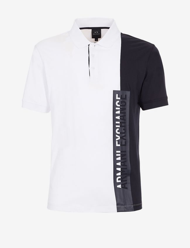 Polo uomo ARMANI EXCHANGE bicolore con scritta