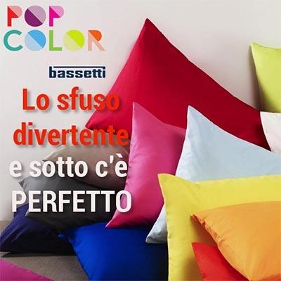 Bassetti Perfetto è il lenzuolo di sotto con angoli della linea Pop Color