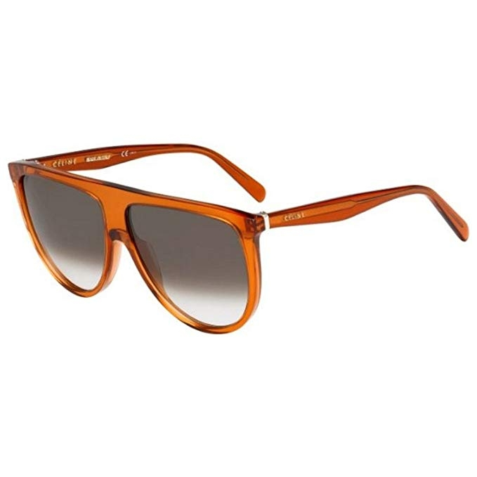 Céline - Occhiale da Sole Donna, Thin Shadow, Dark Orange/Brown Shaded 41435/S  EFB/Z3  C61