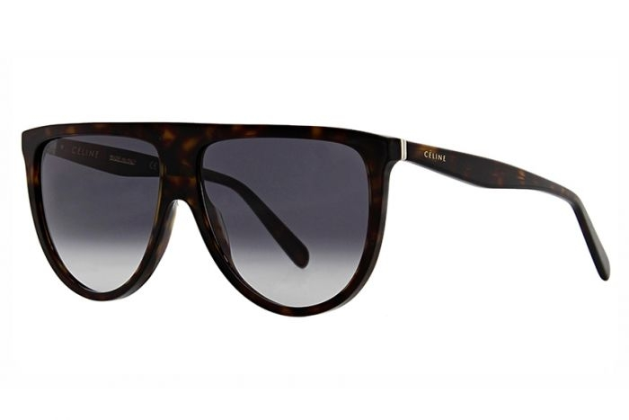 Céline - Occhiale da Sole Donna, Thin Shadow, Dark Tortoise/Grey Shaded 41435/S  086/W2  C61
