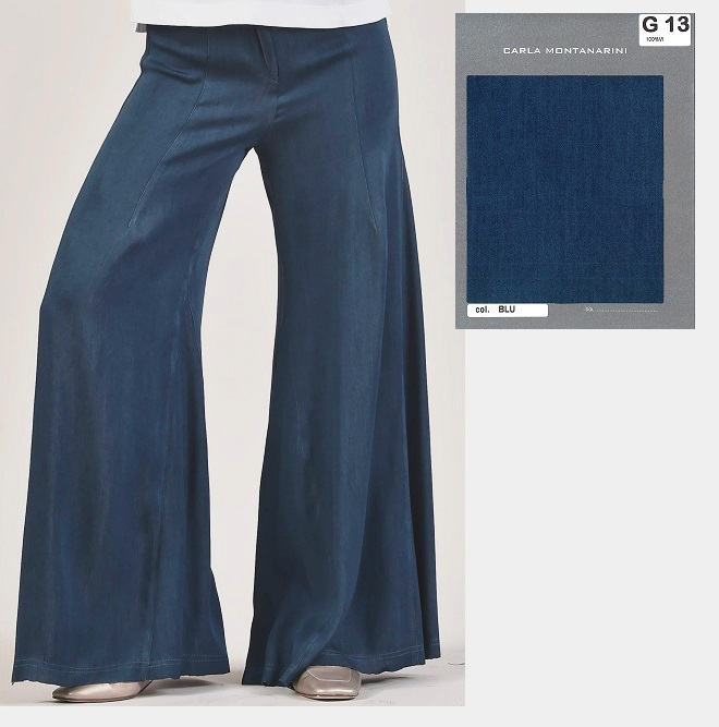 Pantalone tasche, elastico in vita, lunghezza scappata