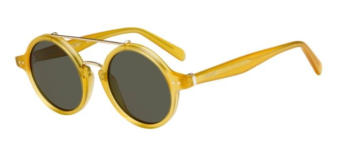 Céline - Occhiale da Sole Donna, Thin Ella, Matte Yellow/Grey Shaded 41436/S  PD9/70  C47