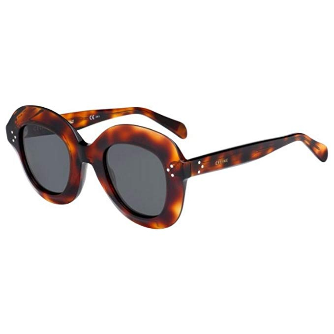 Céline - Occhiale da Sole Donna, Lola, Red Havana/Grey Shaded 41445/S 086/IRN  C46