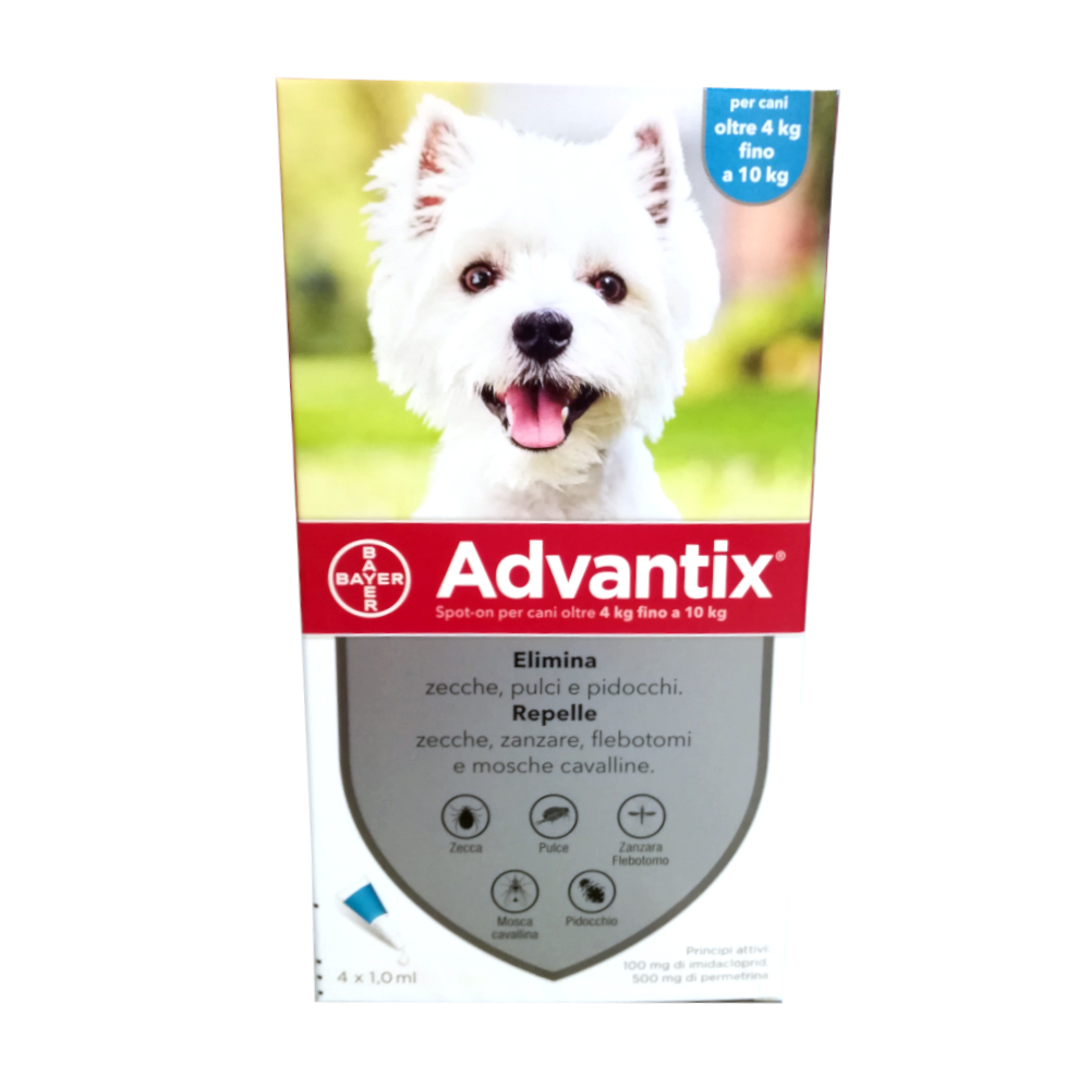 ADVANTIX CANI da 4 ai 10 kg - antiparassitario in pipette
