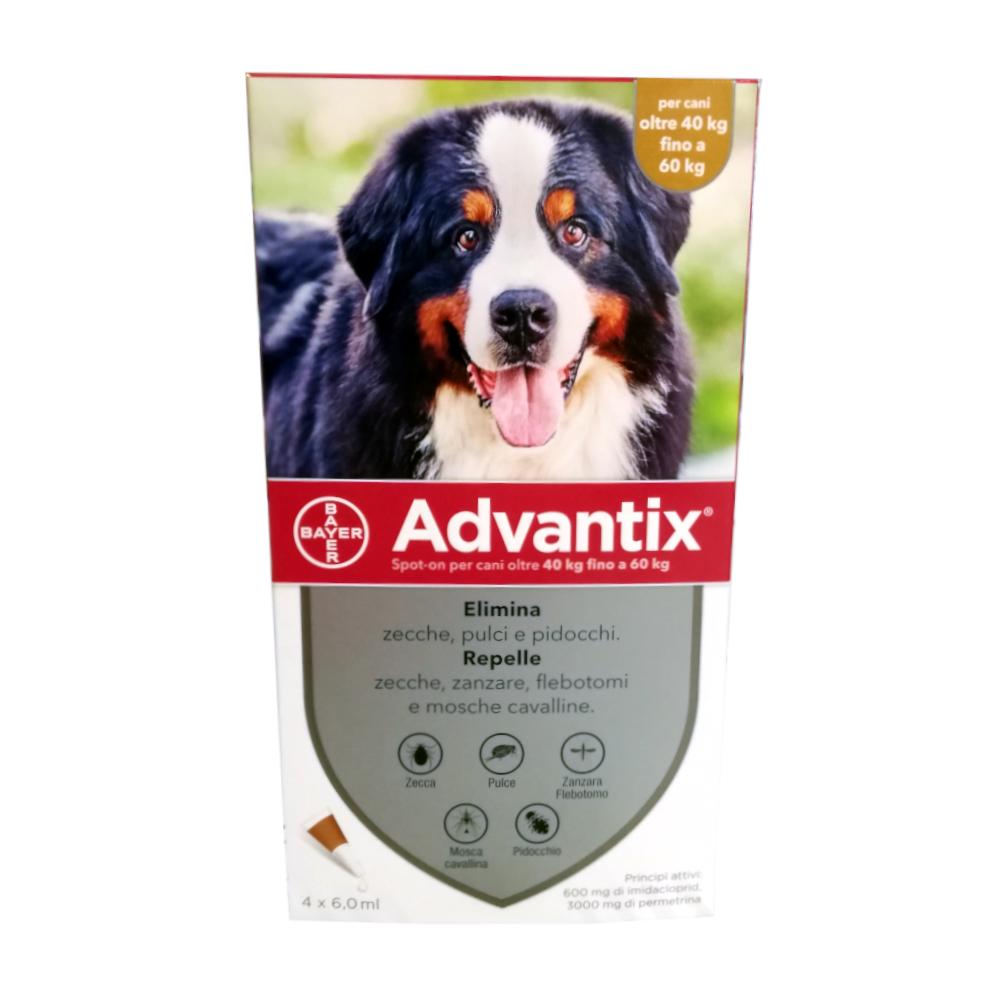 ADVANTIX 40-60 Kg – 4 pipette – Antiparassitario per cani