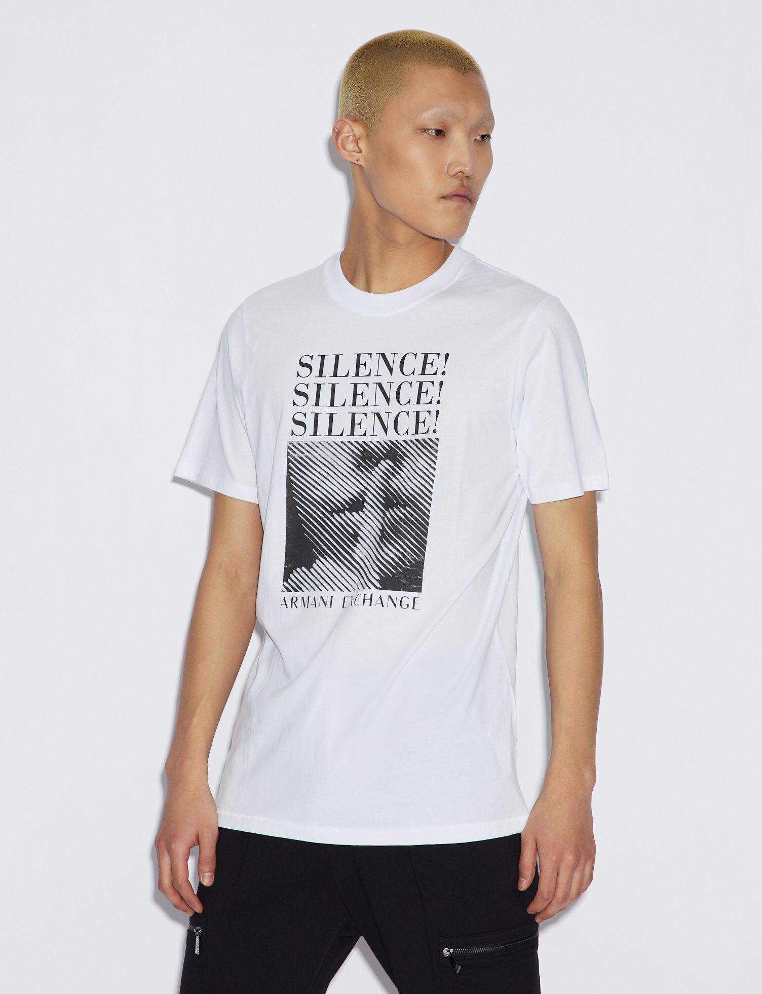T-shirt uomo ARMANI EXCHANGE con maxi stampa