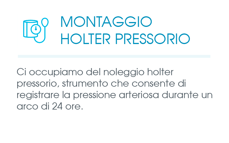 MONTAGGIO HOLTER PRESSORIO