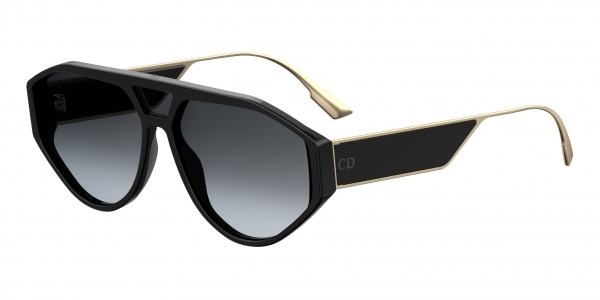 Christian Dior - Occhiale da Sole Donna, Matte Black/Grey Shaded DIOR CLAN 1 807/1I  C61
