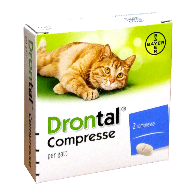 Drontal gatto (2 cpr) - combatte i parassiti intestinali