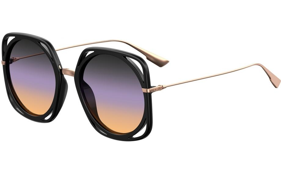 Christian Dior - Occhiale da Sole Donna, DIRECTION, Matte Black/Violet Shaded 26S/0D   C56