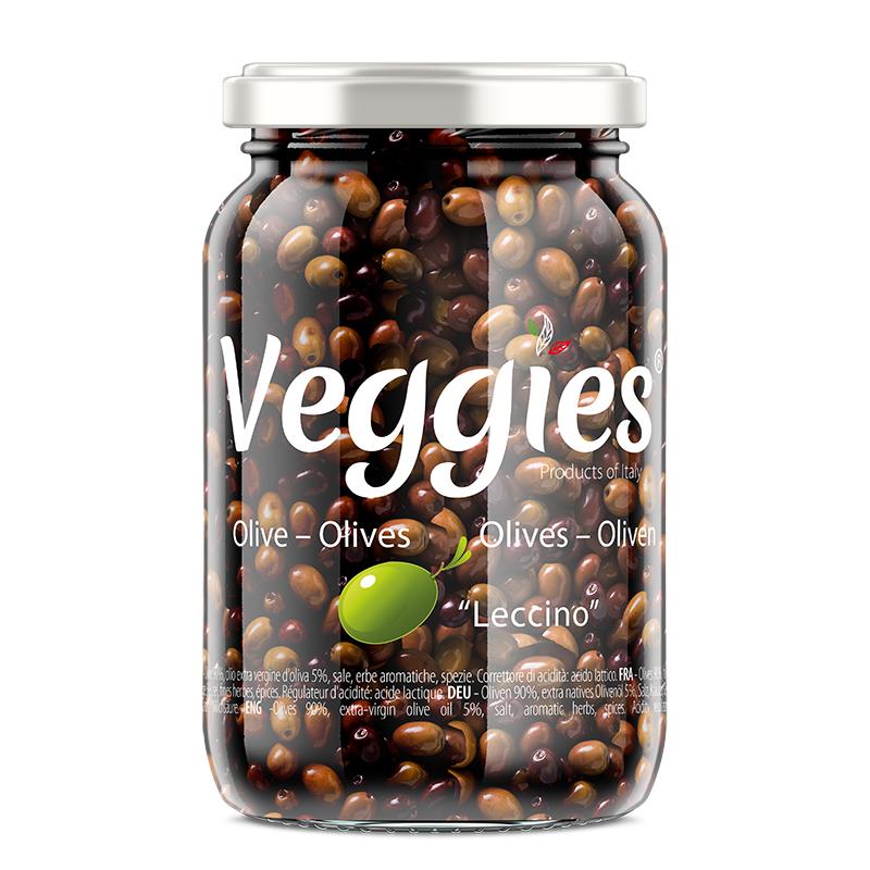 Olive Leccino denocciolate in Condimento Rustico