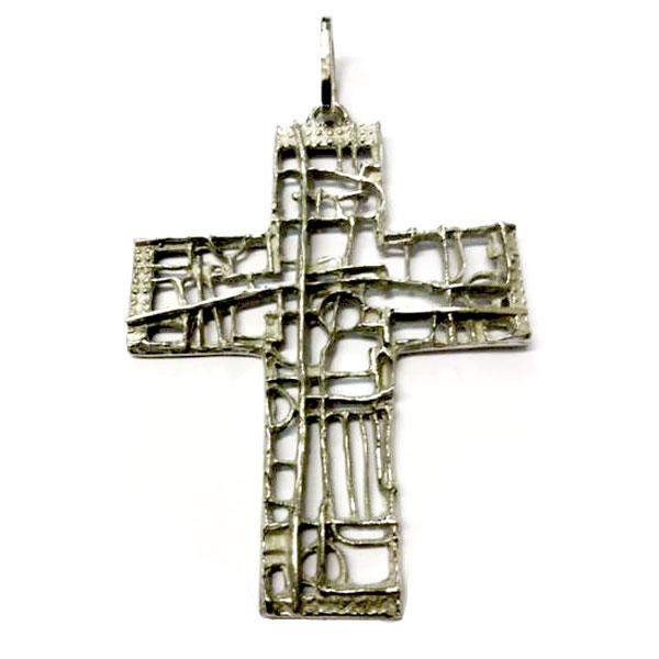 Croce Pettorale in Argento in Stile Longobardo MAZ241