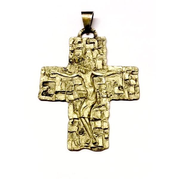 Croce Pettorale Bronzo Argentato VED1046