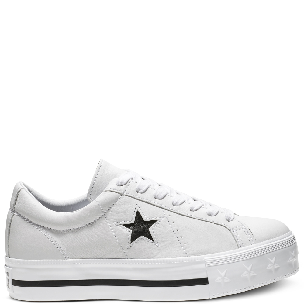 Scarpa donna CONVERSE ONE STAR PLATFORM SUEDE LOW TOP