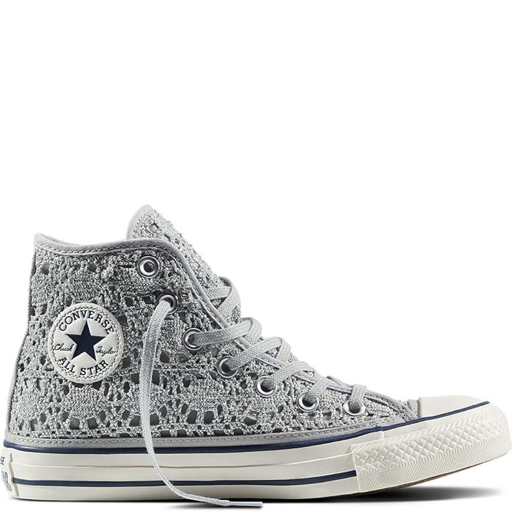 scarpa donna CONVERSE CHUCK TAYLOR ALL STAR HI CROCHET GLITTER