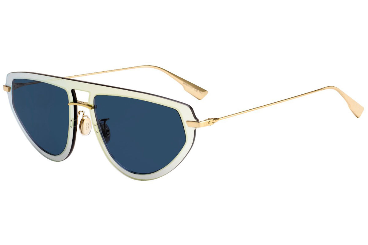 Christian Dior - Occhiale da Sole Donna, DIOR ULTIME 2, Gold/Blue Shaded LKS/A9  C56