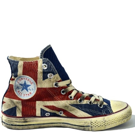 Scarpa donna CONVERSE ALL STAR HI CANVAS UK FLAG LTD