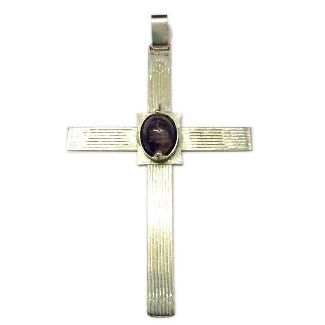 Croce Pettorale in Argento e Ametista