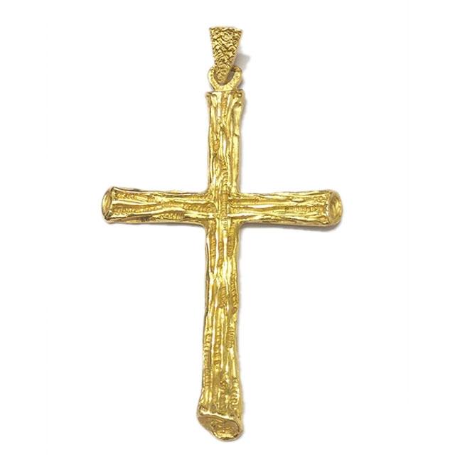 Croce pettorale in argento dorato
