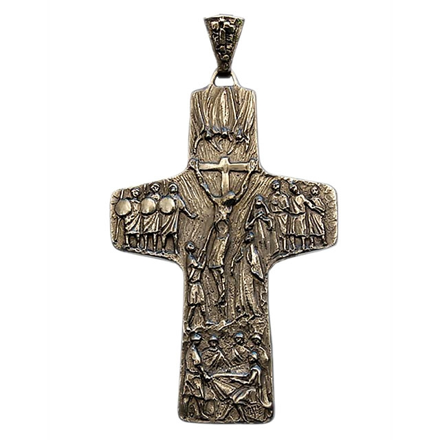 Croce Pettorale in Argento ALB4544