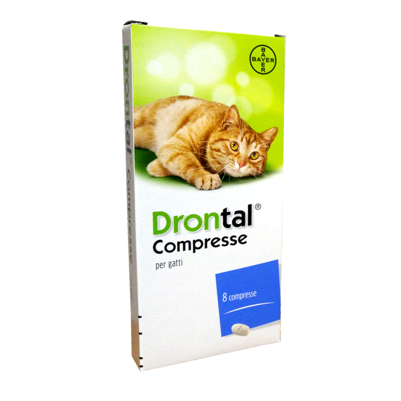 DRONTAL GATTO (8 cpr) – Combatte i parassiti intestinali