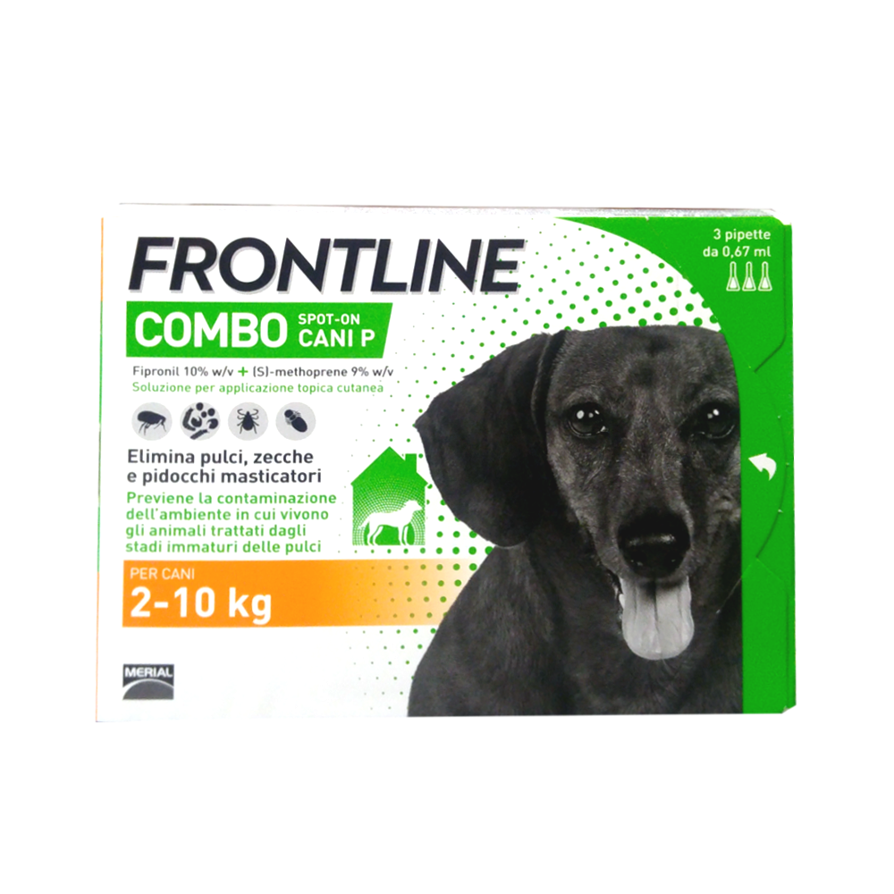 FRONTLINE COMBO cani dai 2 ai 10 kg - ANTIPARASSITARIO SPOT-ON PER CANI