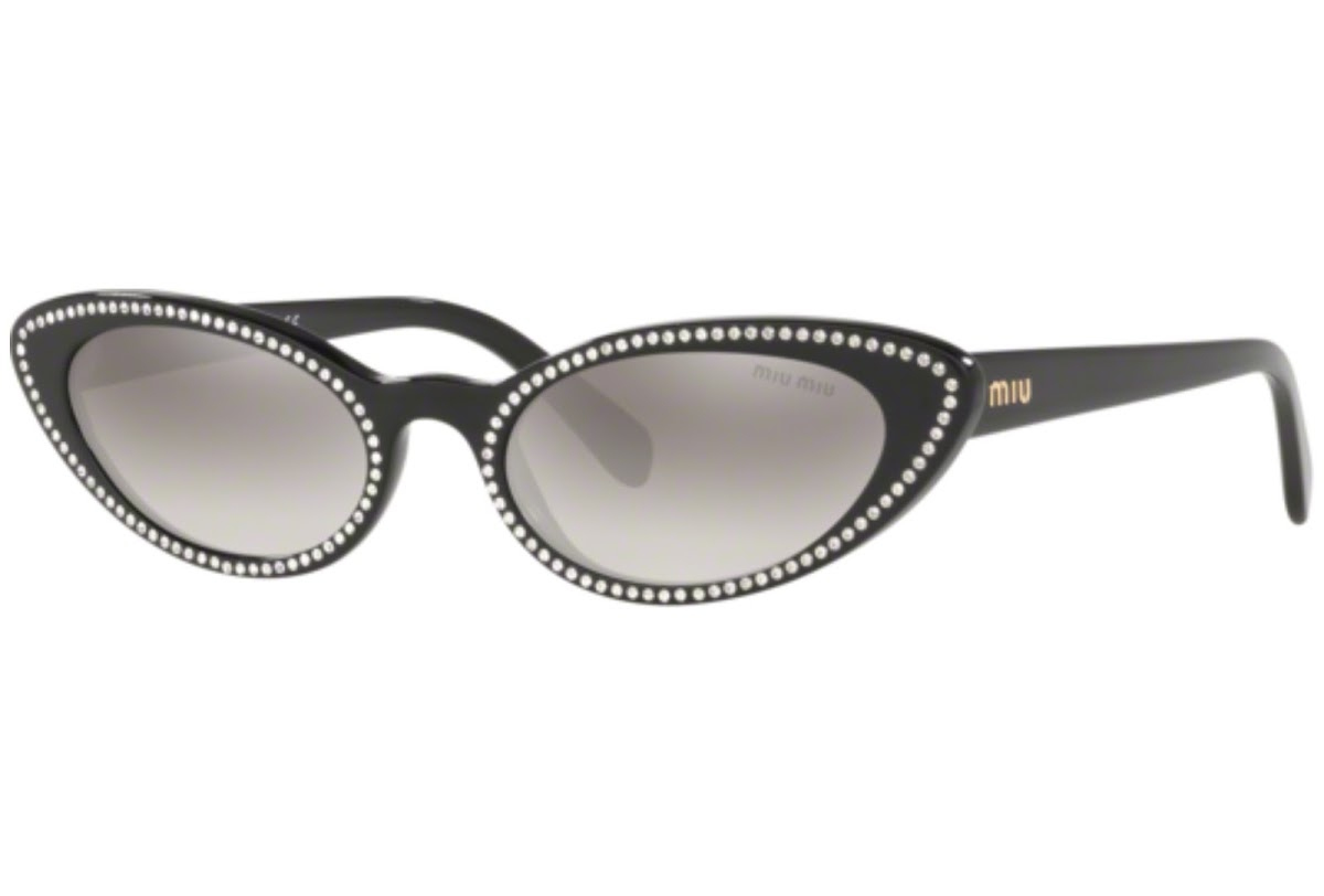 Miu Miu - Occhiale da Sole Donna, Core Collection, Black/Grey Shaded  SMU 09U  141-5O0  C53
