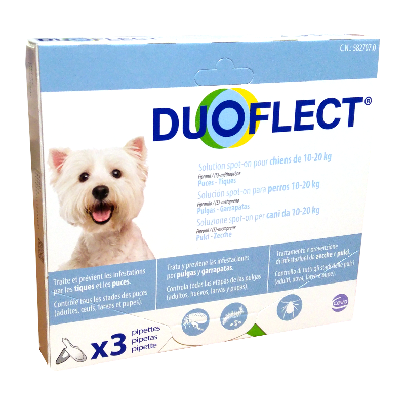 DUOFLECT CANI 10/20 Kg 3 pipette – Contro pulci e zecche