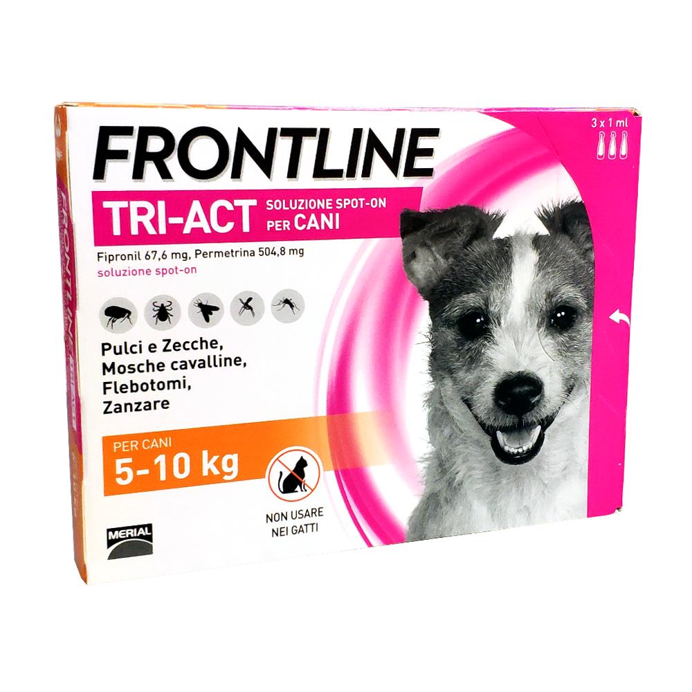 FRONTLINE TRI-ACT per cani dai 5 ai 10 kg - 3 pipette