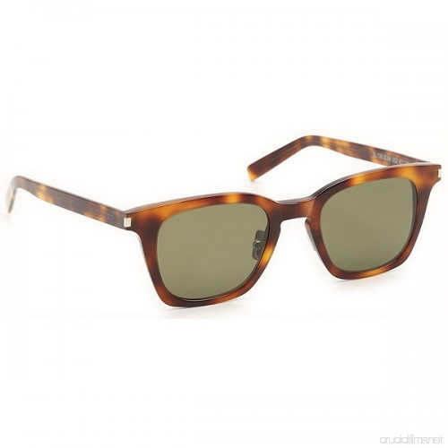 Yves Saint Laurent - Occhiale da Sole Unisex, SL 138, Shiny Medium Havana/Green Shaded 002  C47