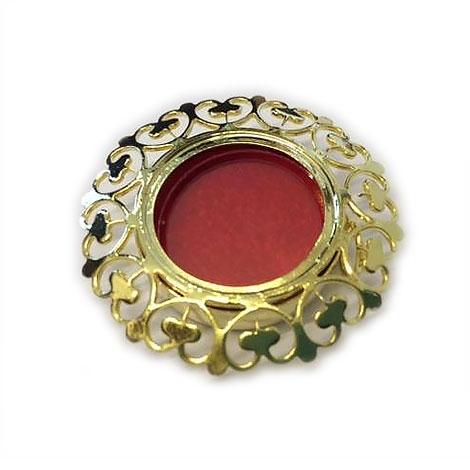 Teca reliquiario in metallo dorata EFGC02D
