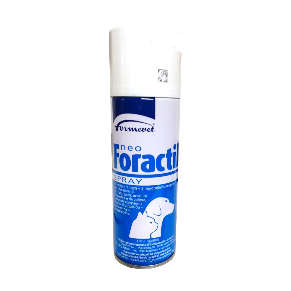 NEO FORACTIL spray cani gatti -  insetticida e acaricida