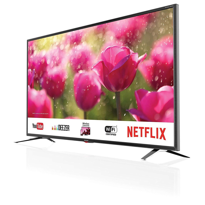 TV COLOR 40 LED SHARP AQUOS LC-40UK7352E BLACK - 4K Smart TV