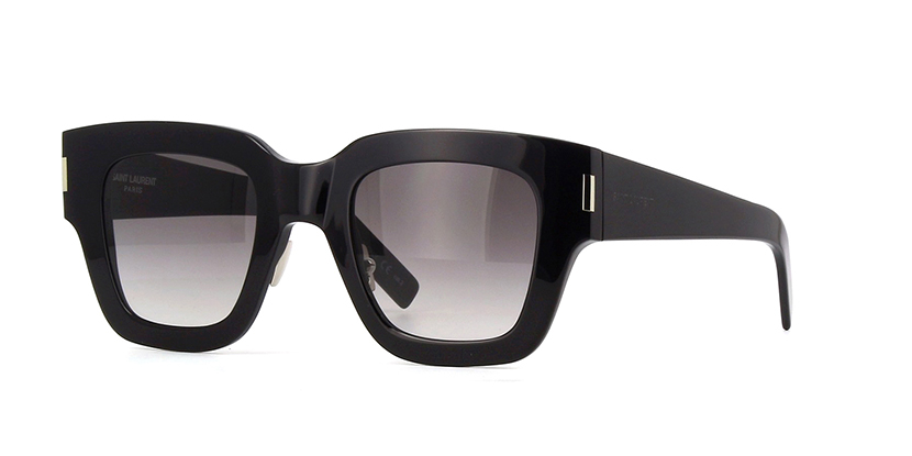 Yves Saint Laurent - Occhiale da Sole Unisex, SL 184 SLIM, Black/Grey Shaded 001  C48