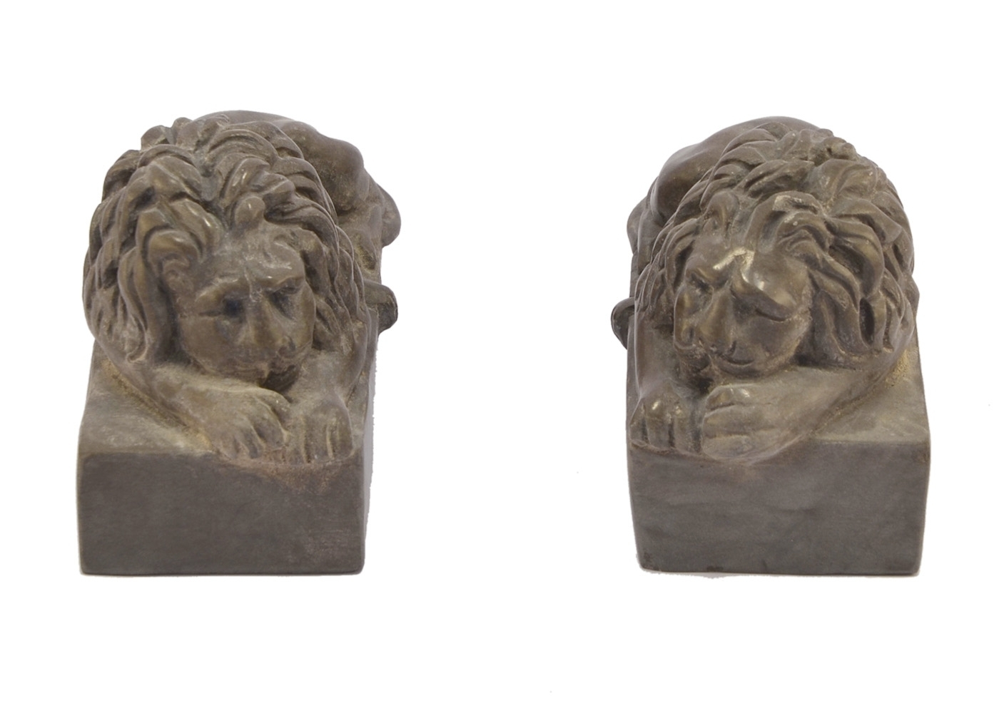 Best price Marble Couple Lions Carved Table Paperweight