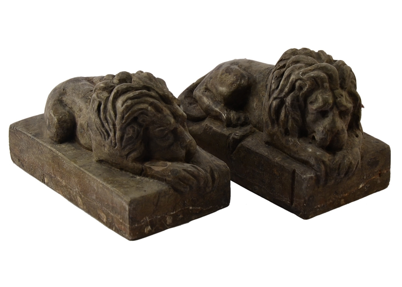 Best price Two Lions Paperweight Sculpture Table An Marble