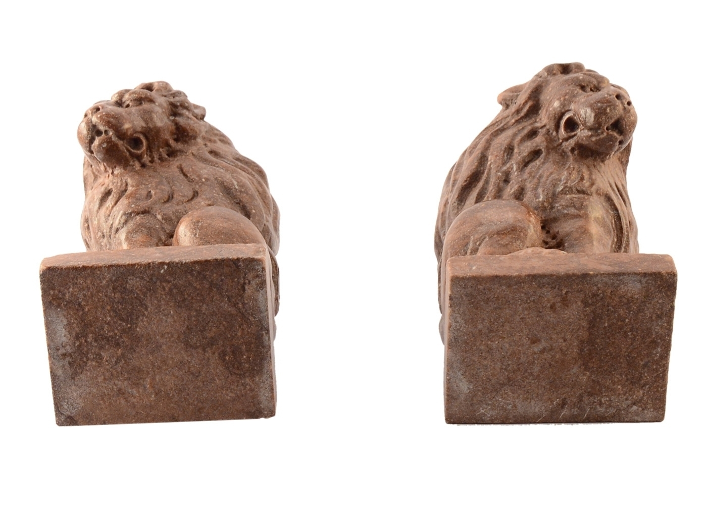 Best price Couple Lions Paperweight Marble Table Sculpture