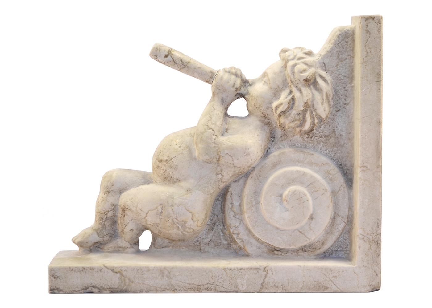 Best price Marble Sculpture Cherub Musician Shelf