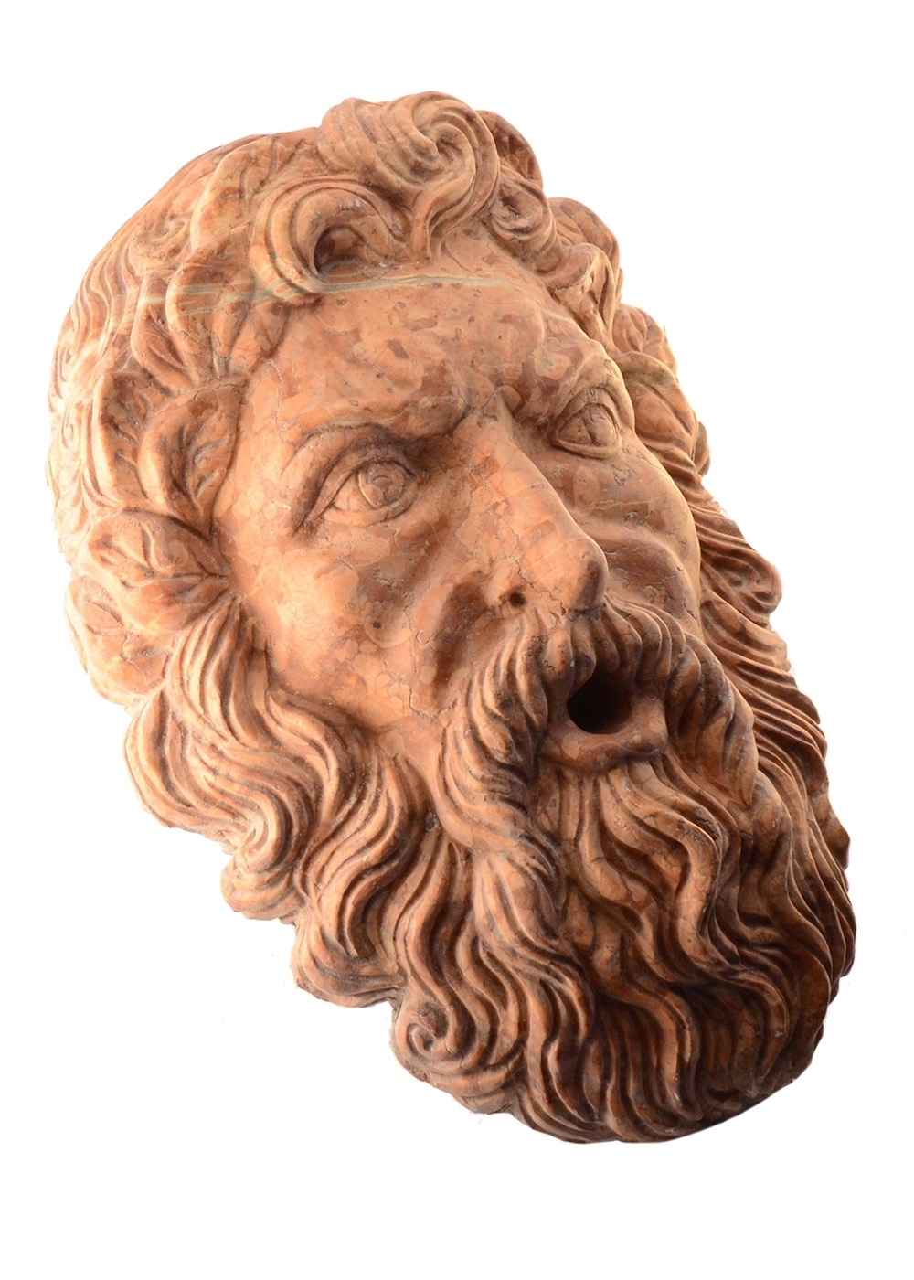 Best price Grotesque Mask Wall Bearded Man Marble Fountain