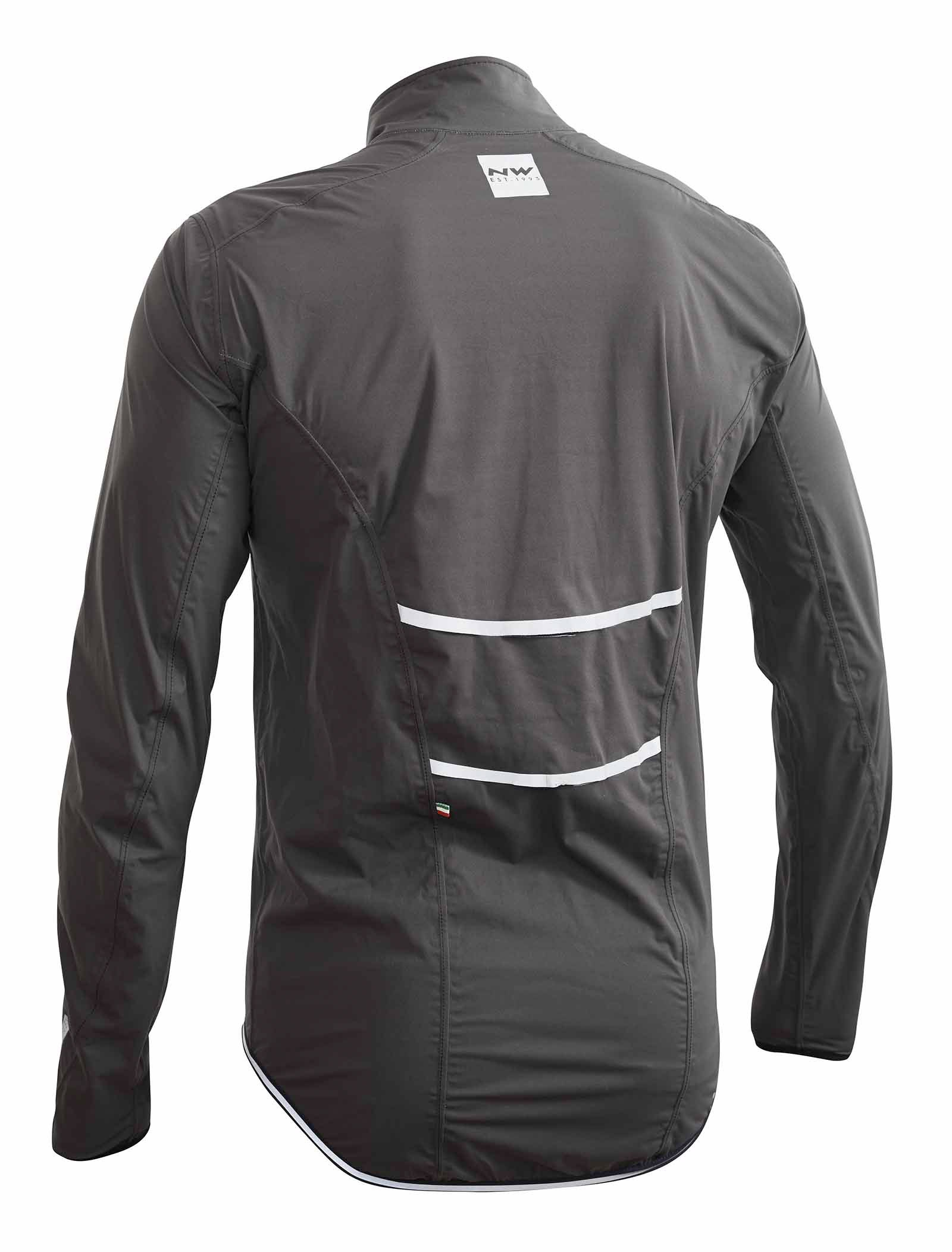 NORTHWAVE Man cycling jacket RAINSKIN SHIELD anthracite grey