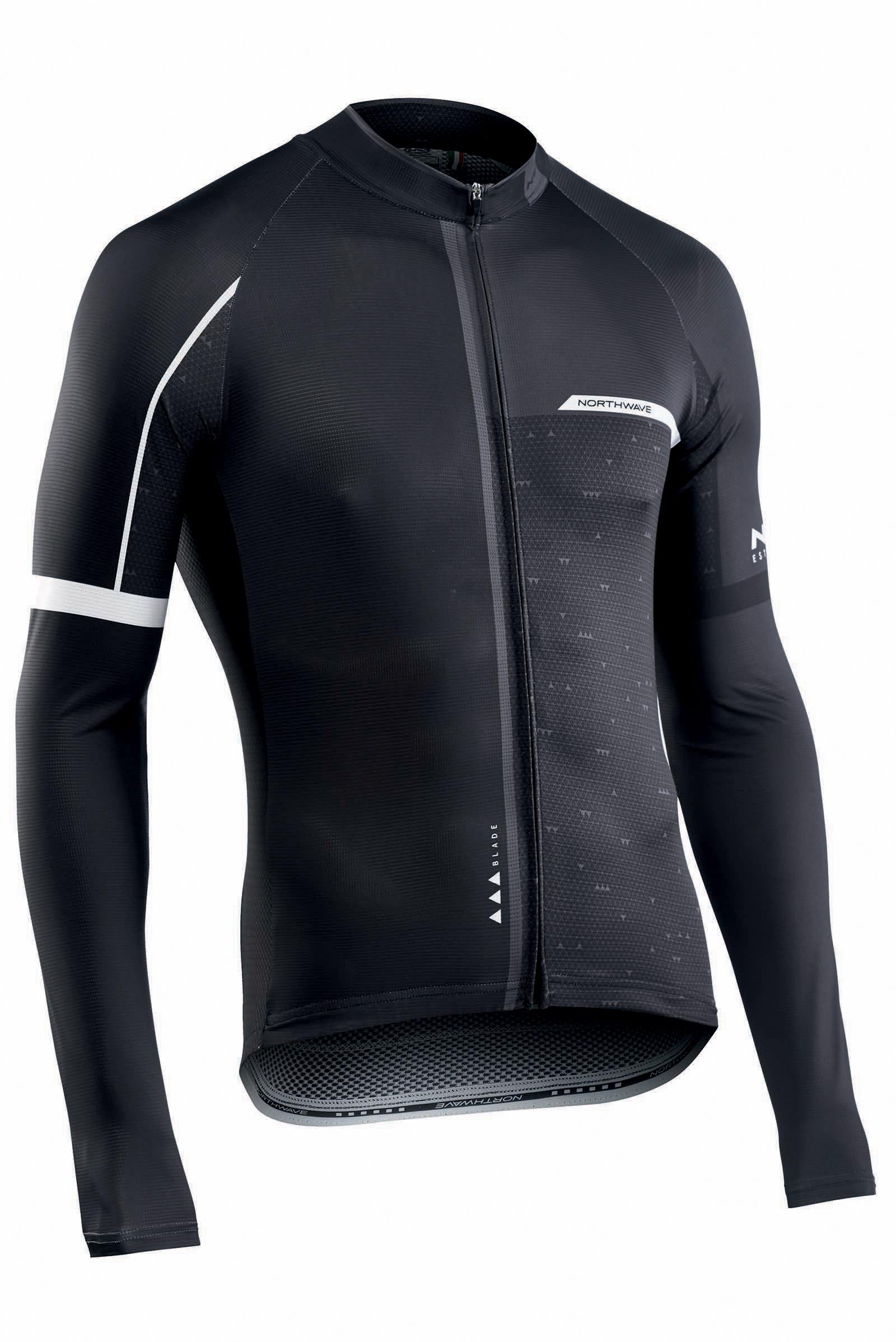 NORTHWAVE Man cycling jersey long sleeves BLADE2 black