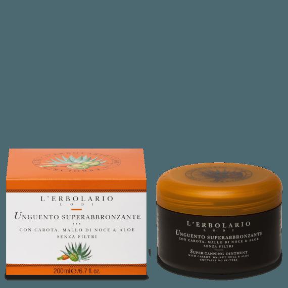 Unguento superabbronzante con Carota, Mallo di Noce & Aloe - senza filtri 200 ml